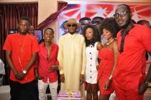 PIX 3, Jay Dreamz, Acetune, Tuface Idibia, Jitey Peterz, Zorah and LACE at the One Mic All-Stars album launch and Tuface's 40th birthday celebration in Lagos on Friday