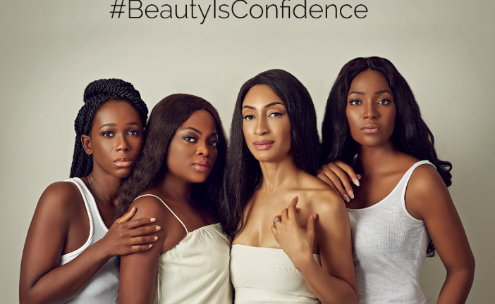 Funke Akindele, Leslie Okoye, Ama K Abebrese & Sylvia Nduka Stand By CookieSkin® Saying 'Beauty Is Confidence!'