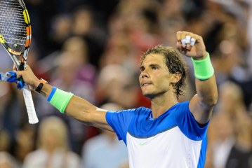 Rafael Nadal is in action at the Swiss Indoors Basel