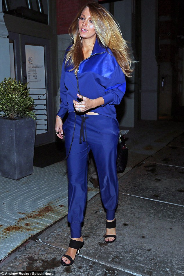 Blake-Lively-tracksuit-and-heels