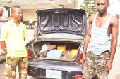 Ambode's Convoy Apprehends Airforce Cadets for locking Boy in car Trunk