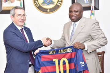 Gov. Ambode Receives Board Members FC Barcelona of Spain