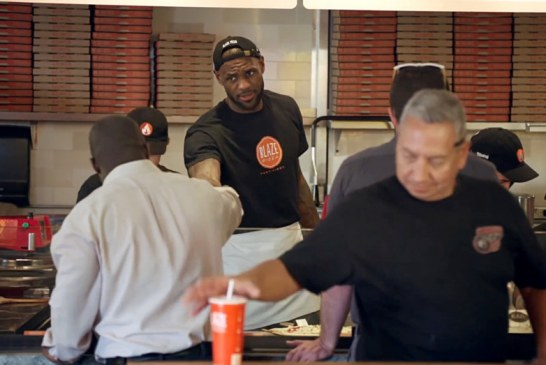 LeBrom James goes Undercover as Pizza Store Employee