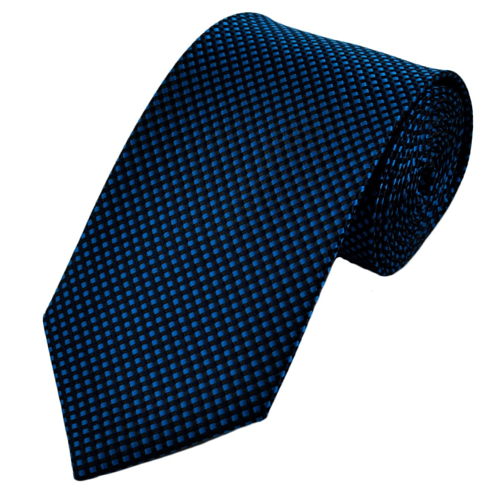 navy-blue-black-micro-woven-checked-patterned-tie-acadaextra