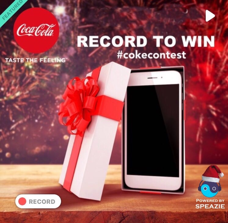 Coca-Cola Christmas Contest on Speazie – Win an iPhone