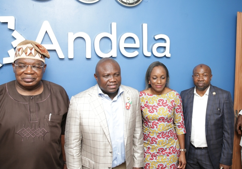 PICTURES: Gov. Ambode visits I.C.T Centres in Yaba and Oyadiran Estate