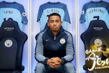 Jesus completes transfer to Man City