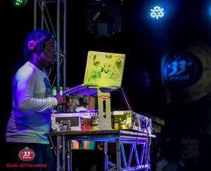 2. DJ Real thrills the guests at the event in Lagos