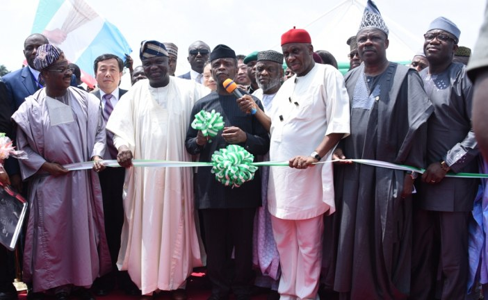 Osinbajo at the Ground Breaking Ceremony of Lagos-Ibadan railway project