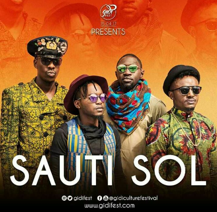 Sauti Sol to arrive Nigeria April 2017 to perform live at Gidi Culture Festival