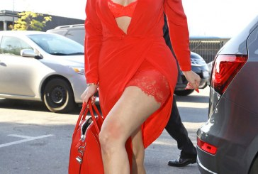 Khloé Kardashian Stepped out in Red Hot Lingerie Look