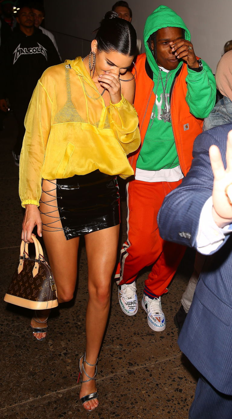 A$AP Rocky and Kendall Jenner spotted