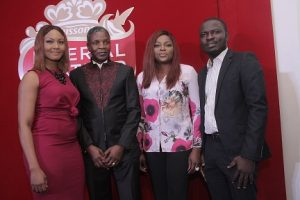 Osas Ighodaro Ajibade; Managing Director, PZ Cussons Consumer, Alex Goma; Funke Akindele Bello; and Brand Manager, Imperial Leather, Abiodun Buari at the launch of Imperial Leather Deodorant Body Spray in Lagos.