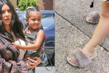 Kim and Kanye Are Making Fur Slides for Kids