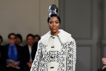 Naomi Campbell, made a rare catwalk appearance for the man she affectionately calls 'Papa'.