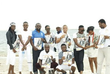 Youth group celebrate international youth day on the beach