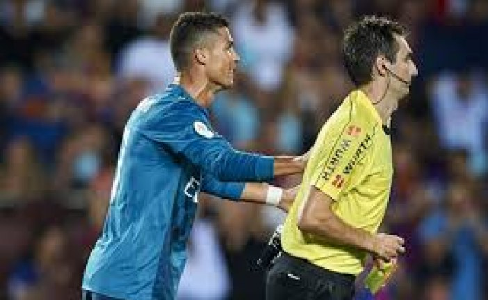 Christiano Ronaldo faces 12-game ban for pushing referee