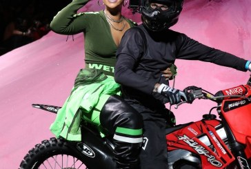 Just a Few Days after Launching Her Fenty Beauty line Rihanna Went Dirt Bike-Themed For Her Spring 2018 Fenty x Puma Show
