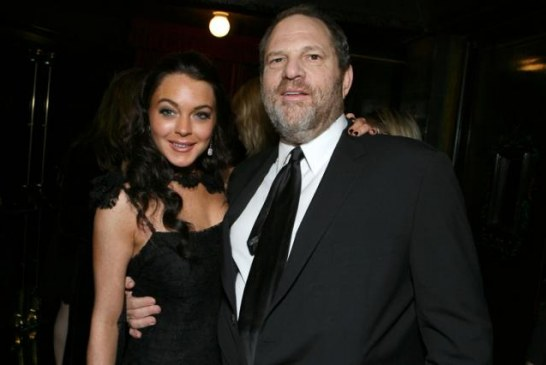 Harvey Weinstein seems to have at Least One Defender.. Lindsay Lohan