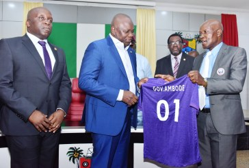 Ambode receives MFM FC, donates N50M to club