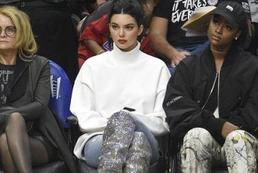 Kendall Jenner Wore the $10,000 Sparkly Saint Laurent Boots to a Basketball Game.