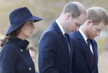The Duke and Duchess Of Cambridge and Prince Harry remember victims of the Grenfell Tower fire