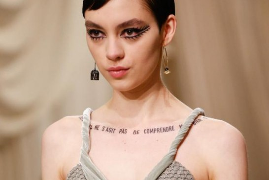 Dior Introduces Slogan Couture at Its Spring 2018 Show
