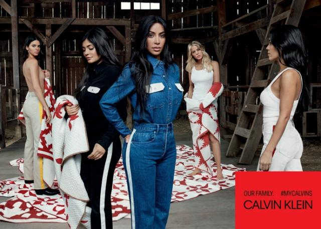 """The Kardashian-Jenner sisters are the new Faces of Calvin Klein's """"Our Family"""" Campaign."""