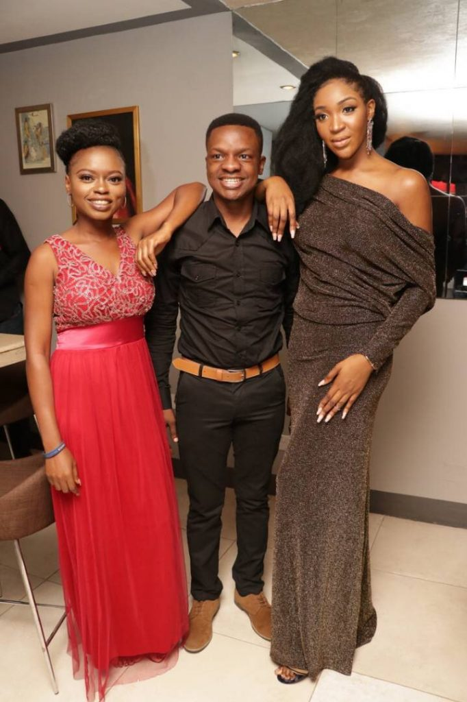 Ayodeji Osowobi, Timilehin Bello and Idia Aisien at TFAA exclusive dinner