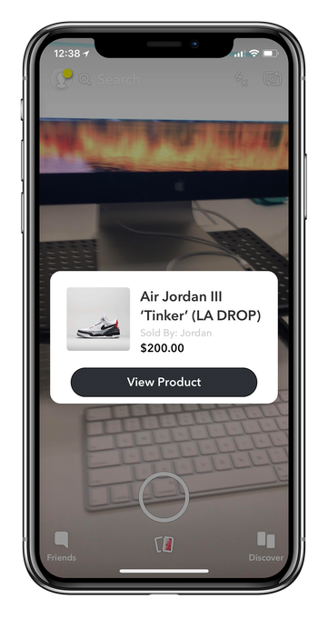 Nike teamed up with Snap and Darkstore to pre release Air