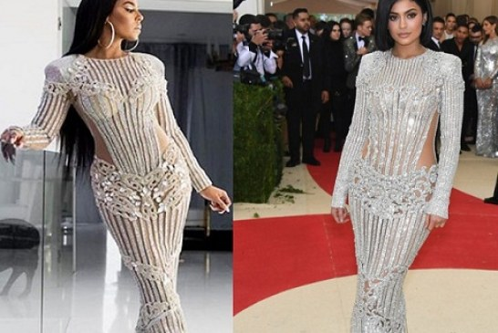 Ashanti and Kylie Jenner Wore Exact the Same Red Carpet Dress