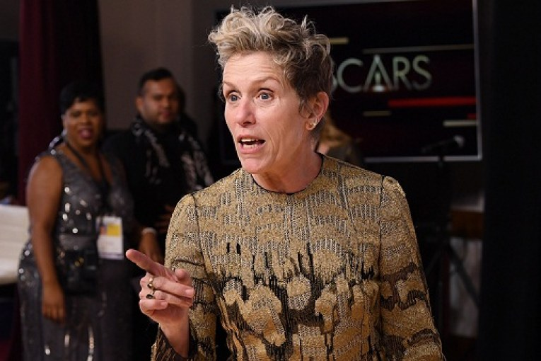 Mandatory Credit: Photo by David Fisher/REX/Shutterstock (9446181lm) Frances McDormand - Lead Actress - 'Three Billboards Outside Ebbing, Missouri' 90th Annual Academy Awards, Press Room, Los Angeles, USA - 04 Mar 2018