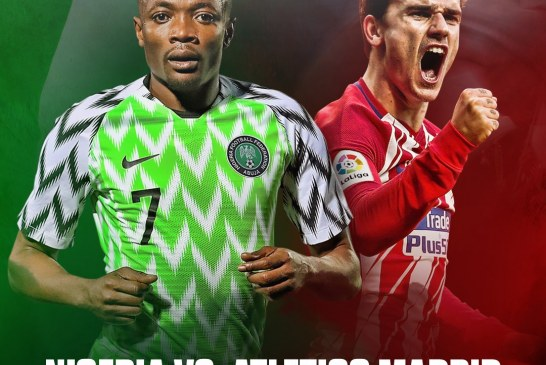 Atletico Madrid to Play Nigeria in Friendly Match After 2018 Europa League Final
