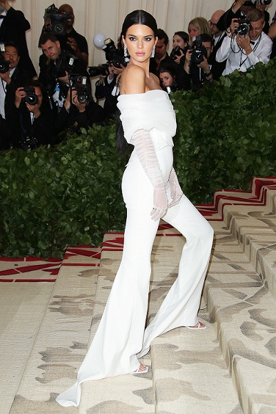 Kendall Jenner The Metropolitan Museum of Art's Costume Institute Benefit celebrating the opening of Heavenly Bodies: Fashion and the Catholic Imagination, Arrivals, New York, USA - 07 May 2018