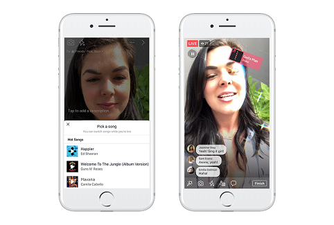 Facebook announces new music features on 'Live'