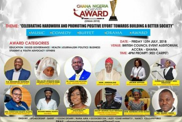 ALL IS SET FOR THE 2018 GHANA NIGERIA ACHIEVERS AWARD