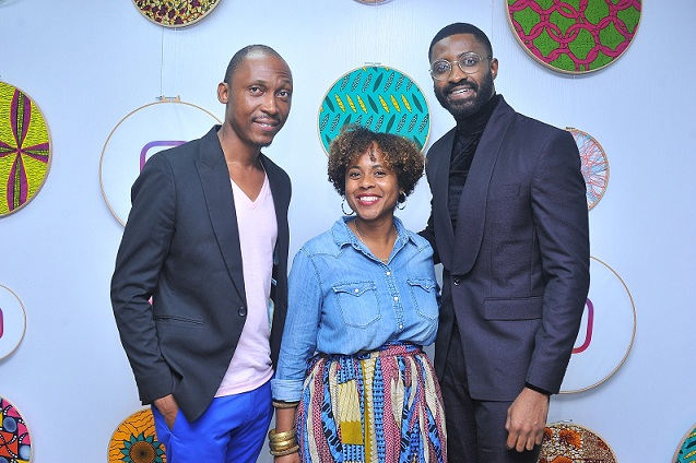Frank Donga, Sherry Dzinoreva; Policy Programmes Manager, EMEA, Facebook and Ric Hassani at the event