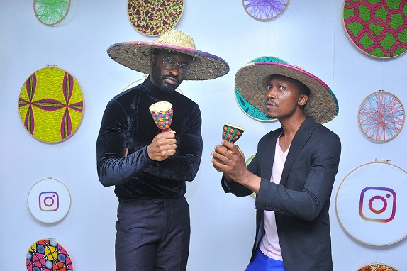 Ric Hassani and Frank Donga at the event