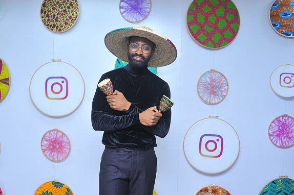 Ric Hassani at the launch of Facebook for Creators in partnership with Afrinolly