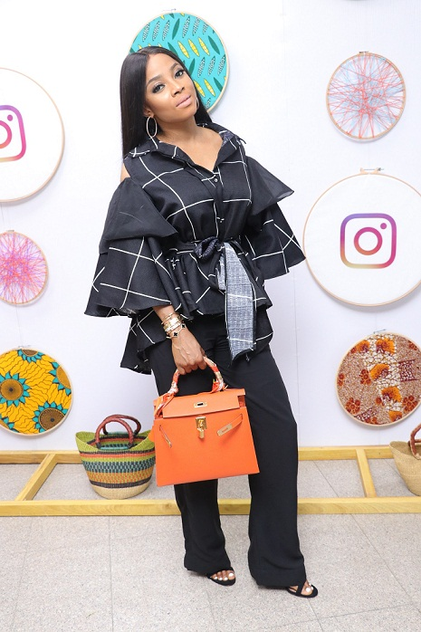 Toke Makinwa at the event