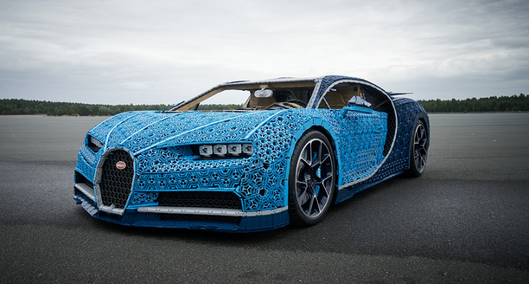 LEGO built a life Size, Drivable Bugatti from over a Million Technic pieces