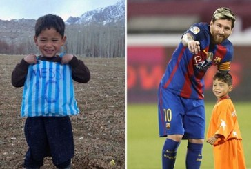 Afghan Boy who Went Viral after Wearing Plastic Bag Messi Shirt flees Taliban