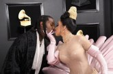 Cardi B  and Offset  Walked the Grammy's Red Carpet Together