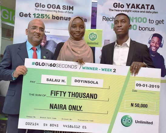 Last Batch Of Weekly Winners In Gloin60seconds Competition Receive      Prizes