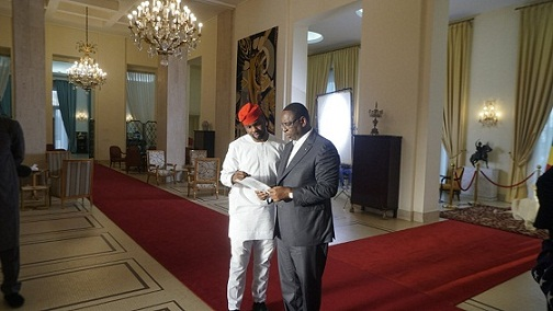 StateCraft Inc. co-founder, Adebola Williams and President Macky Sall
