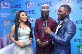 Babajide Sanwo-Olu, Ramsey Nouah, Lolo 1 on Peak's Blue Carpet at AY Live 2019