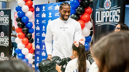 Kawhi Leonard Starts 'Meaningful Contributions' Back Home by giving out 1 million Backpacks
