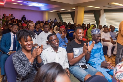 Guests all smiles at the official unveil of The Future Awards Africa call for nominations at launch event in Abuja