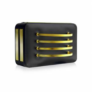 black cuff box clutch