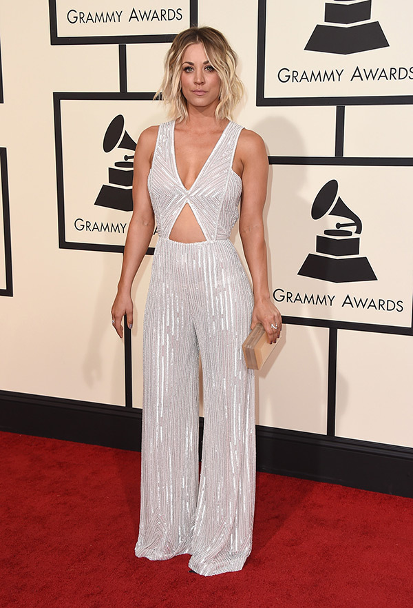 kaley-cuoco-grammys-2016-grammy-awards